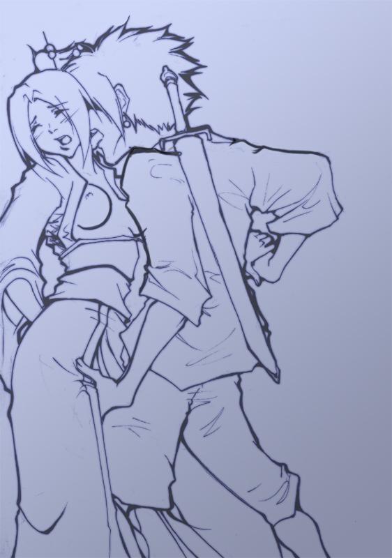 jin and mugen samurai champloo Dark souls servants of chaos