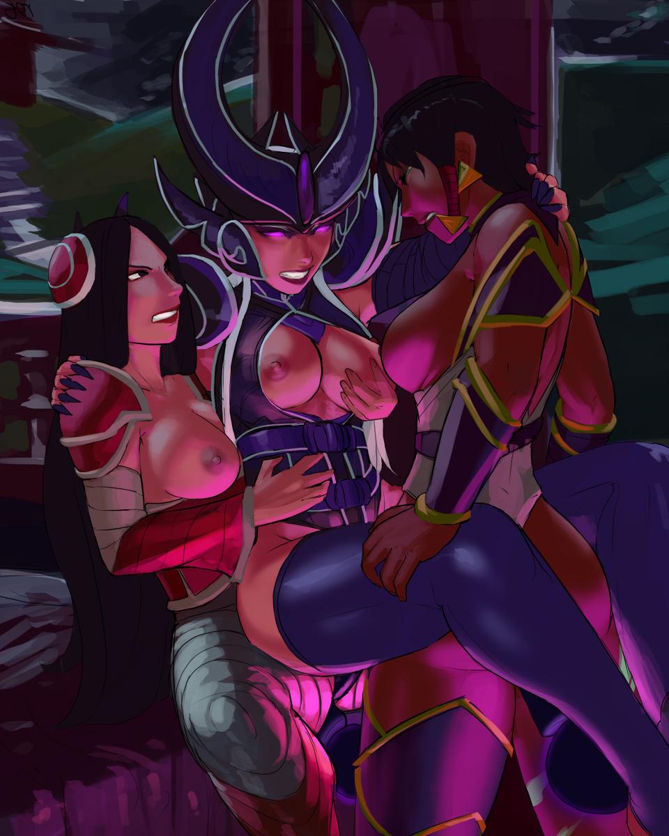 ribbon league of legends purple Boku no hero academia ecchi