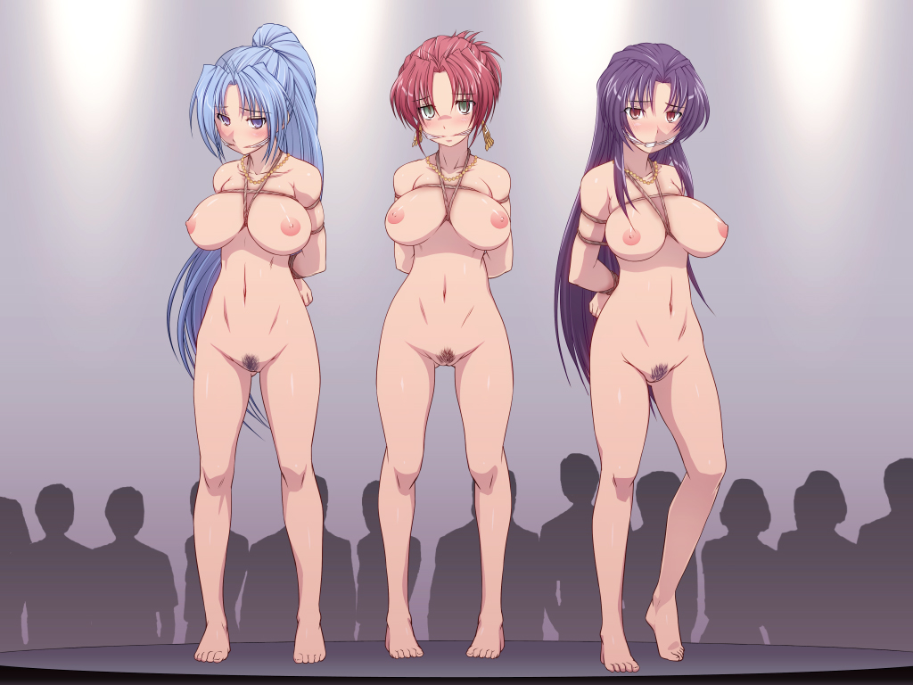 embarrassed nude in public female Aoi sekai no chushin de