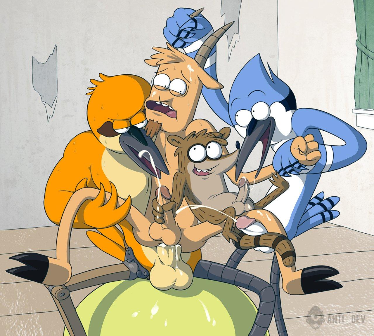 show mordecai rigby regular x Scooby doo camp scare daphne