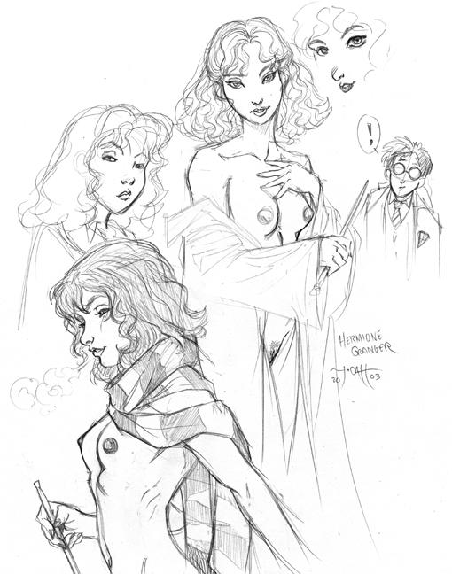 nude hermione harry potter granger Boku-to-misaki-sensei
