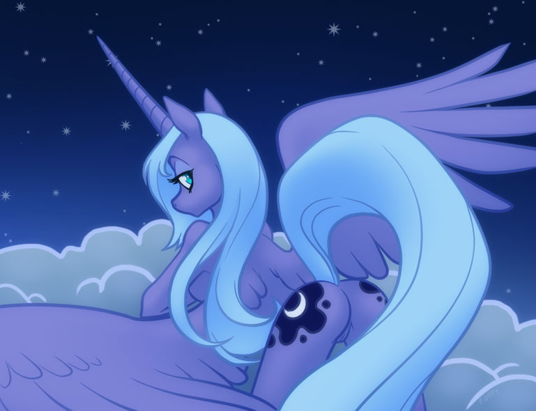 luna my little pony princesa Twisting elbow to absorb recoil