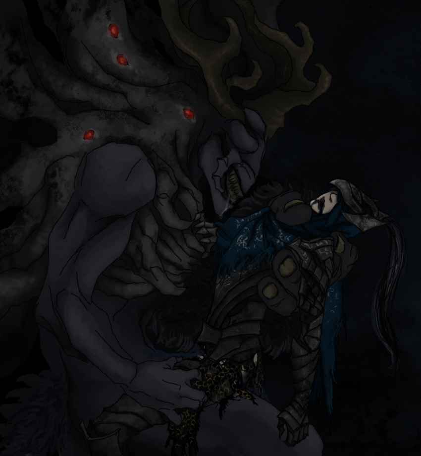 souls corvian 3 dark knight Knife girl my hero academia