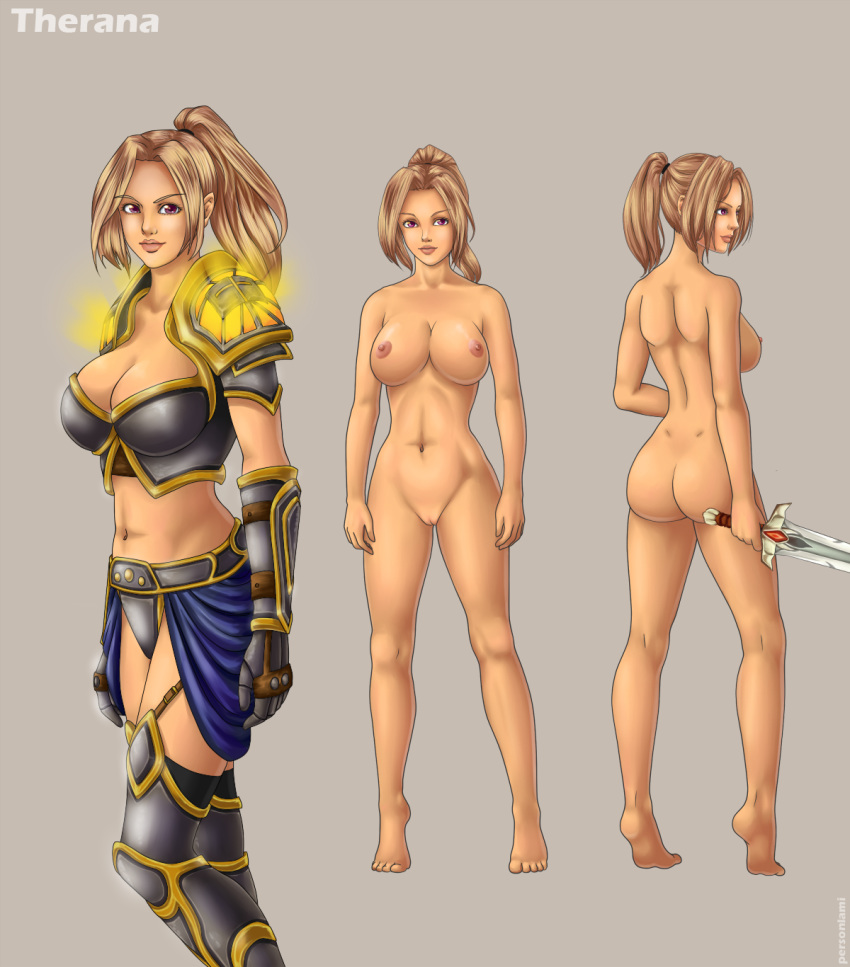 world female of warcraft orc Tiger and bunny