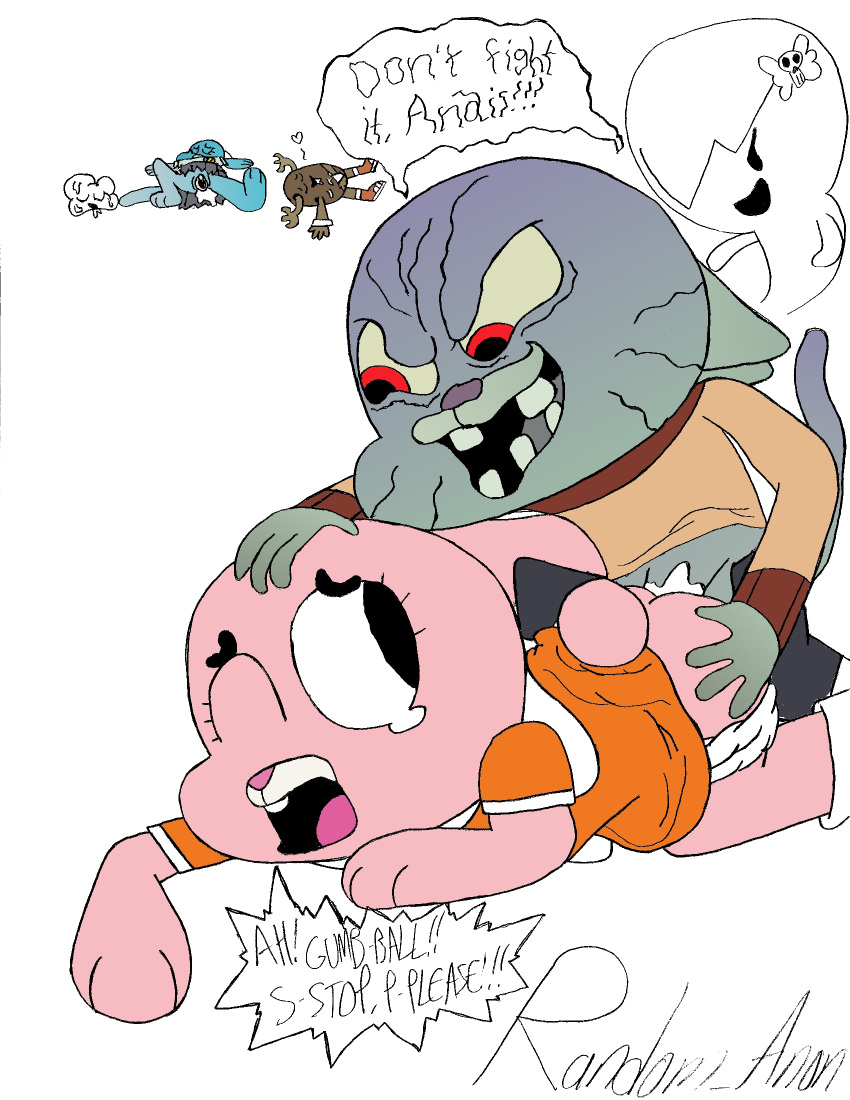 world of amazing naked the gumball Goku and android 18 sex